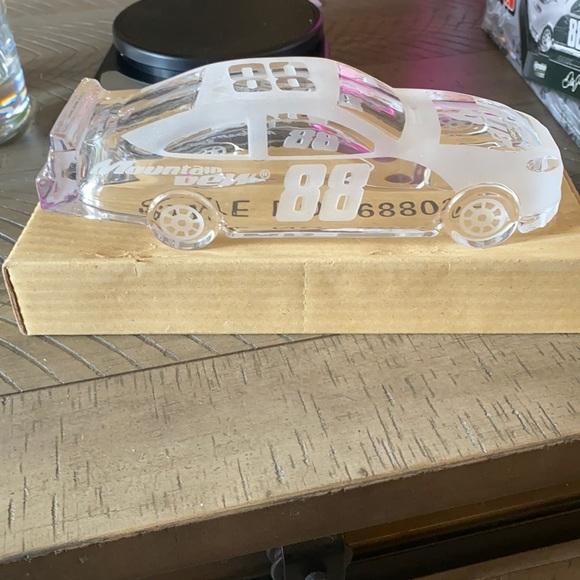 Collectible crystal race car